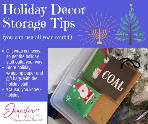 Holiday Decor Storage Tip #6