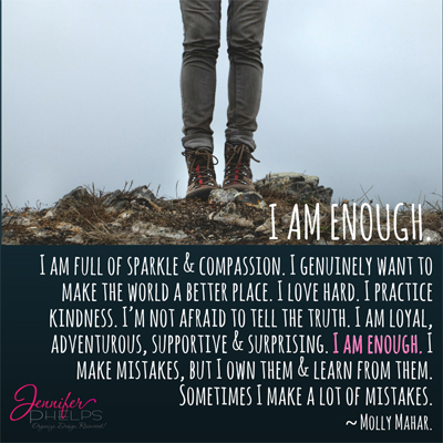 A New Year's Thought: I Am Enough!